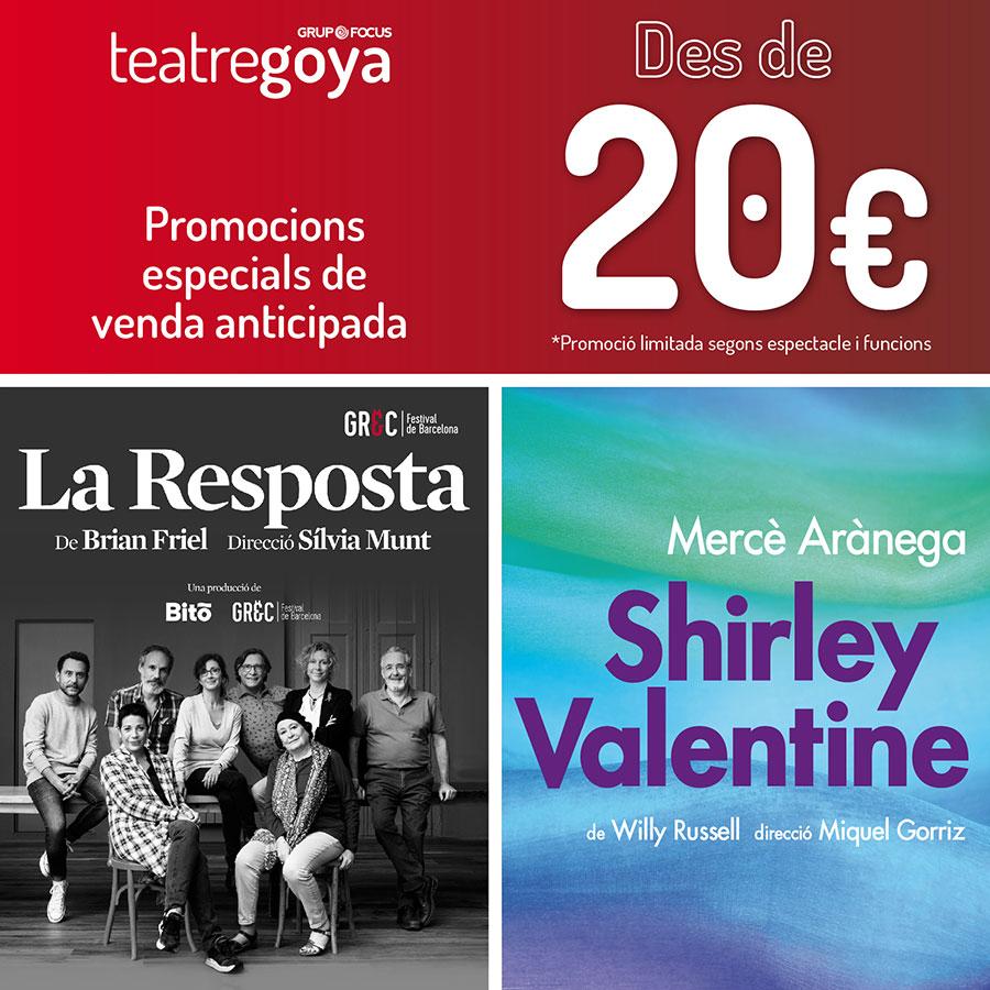Teatre Goya - Promocions