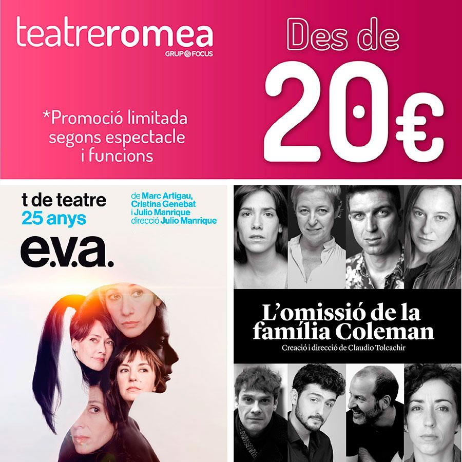 Teatre Romea promocions