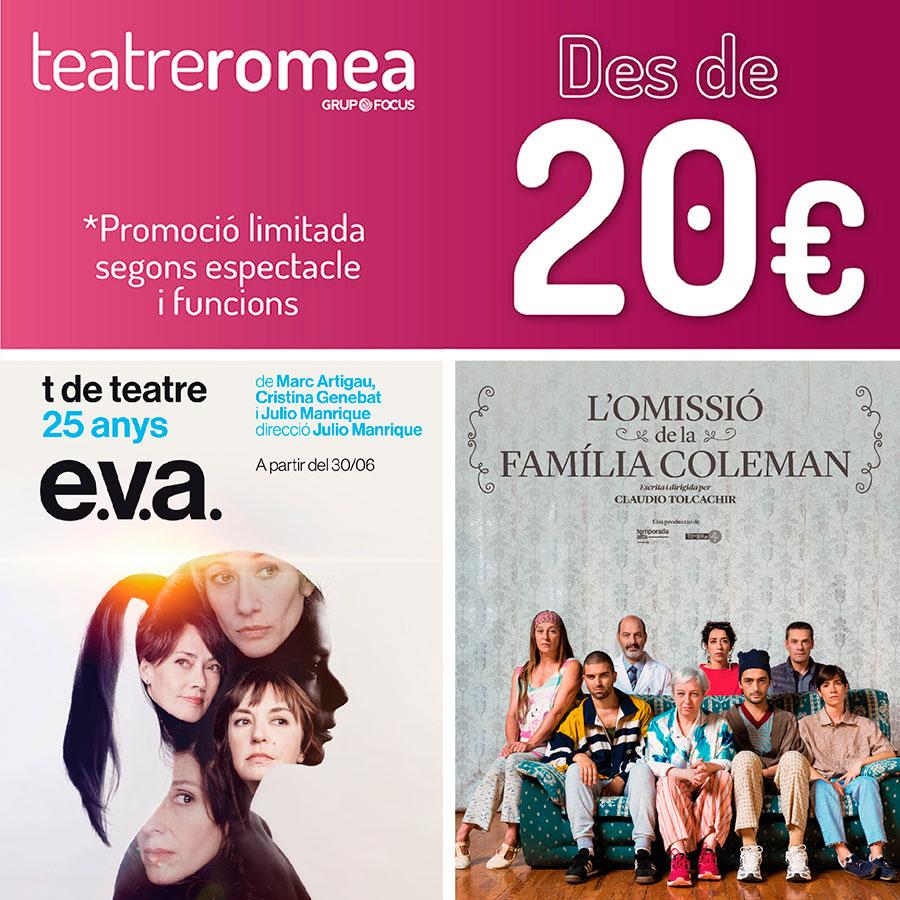 teatre barcelona promocions